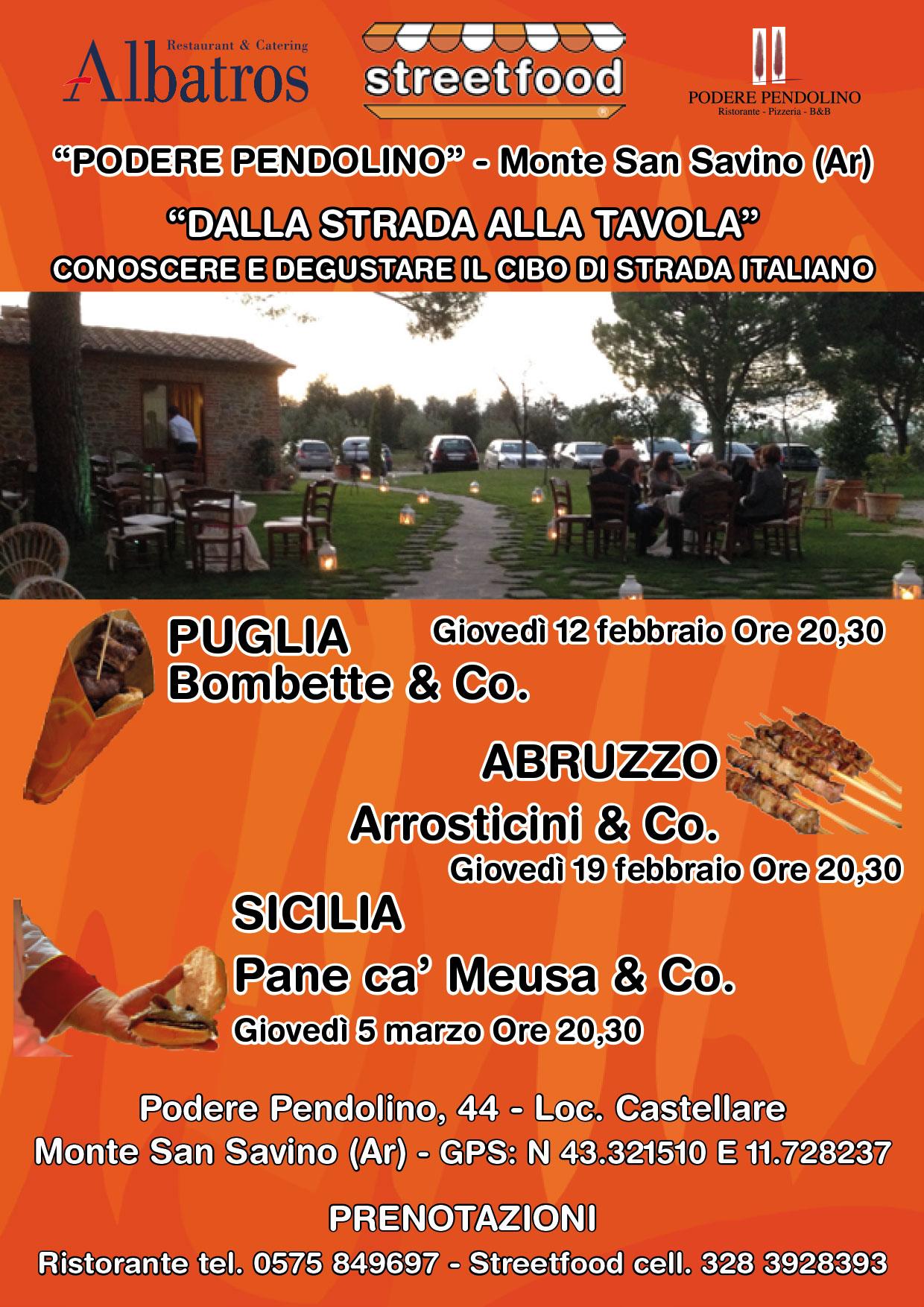 Conosciuto Cene a tema Streetfood, Abruzzo, Puglia e Sicilia in tavola EA39