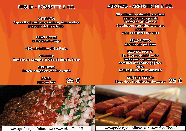 Estremamente Cene a tema Streetfood, Abruzzo, Puglia e Sicilia in tavola CV68